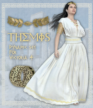 Themis Dynamic set for Victoria 4 3D Figure Essentials Software Poser Software-Smith Micro Tipol
