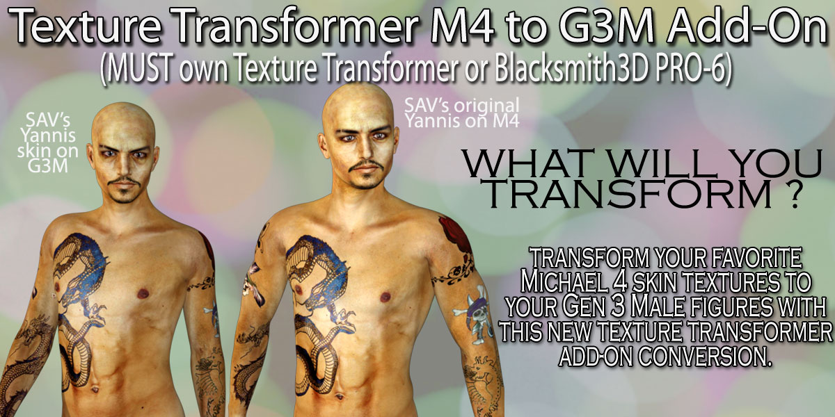 M4 to G3M Add-on Pack for Texture Transformer by Blacksmith3D