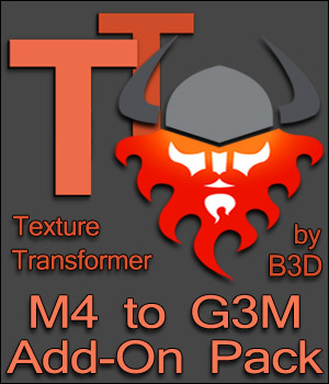 M4 to G3M Add-on Pack for Texture Transformer 2D Graphics 3D Software : Poser : Daz Studio : iClone Blacksmith3D