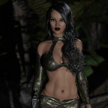 Hollywood Styles Biker Outfit: Sleeveless, Shorts, Capris & Camo Textures Add-on image 2