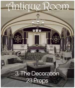 Antique Room - The Decoration 3D Models ICRDesign