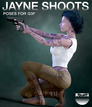 DTG Studios' Jayne Shoots - Poses for G3F 3D Figure Essentials DTHUREGRIF