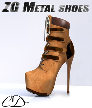 ZG Metal shoes for G2F 3D Figure Assets curtisdway
