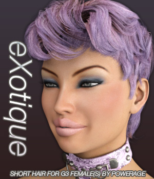 eXotique Short Hair for G3 female(s) 3D Figure Essentials Anagord