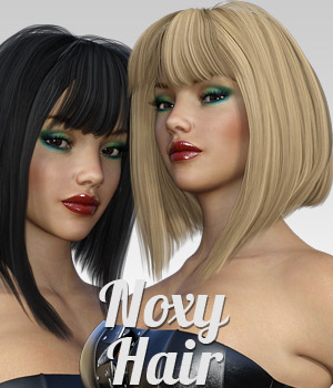 Noxy Hair for G3 female(s) 3D Figure Assets powerage