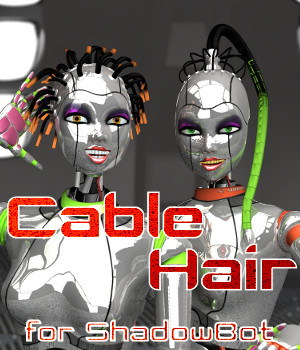 Cable Hair Set for ShadowBot 3D Figure Essentials 3D Models swhawk