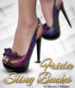 Frida Sling Backs Genesis 3 Female(s) 3D Figure Assets 3DSublimeProductions