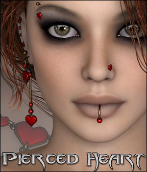 Pierced Heart 3D Figure Assets 3D Models digiPixel