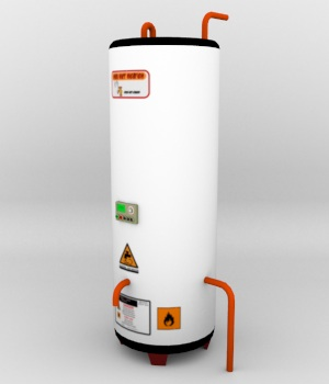 Water Heater Object - Extended License 3D Models Gaming Extended Licenses uncle808us