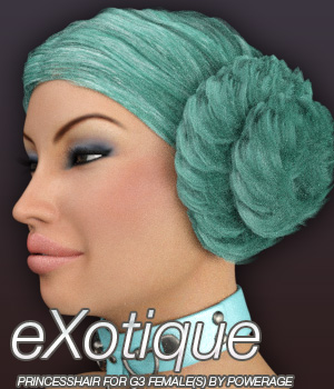 eXotique Princess Hair for G3 female(s) 3D Figure Essentials Anagord
