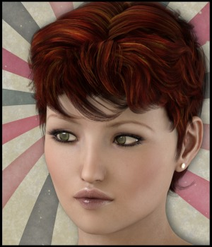 Bottled Short Hair for G3 Female(s) 3D Figure Assets 3-DArena