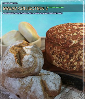 Photo Buffet: Bread Collection 2 - Extended License 3D Models Gaming Extended Licenses ShaaraMuse3D