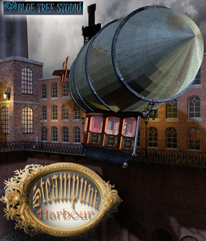 Steampunk Harbour 3D Models BlueTreeStudio