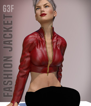 Fashion Jacket for V7 3D Figure Assets xtrart-3d
