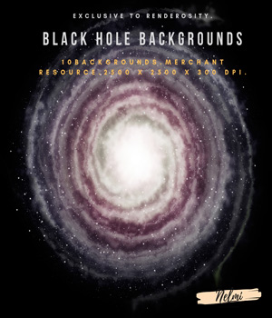 10 Black Hole Backgrounds with stars - Merchant Resource 2D Merchant Resources nelmi
