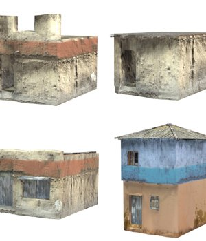 Shanty Town Buildings 2: Set 4 (for Poser) 3D Models VanishingPoint
