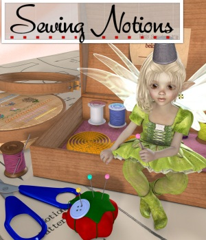 Sewing Notions 3D Figure Essentials 3D Models JudibugDesigns