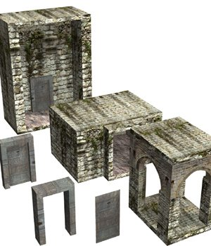 Abbey In Ruins: Construction Kit (for Poser) - Extended License 3D Models Gaming Extended Licenses VanishingPoint