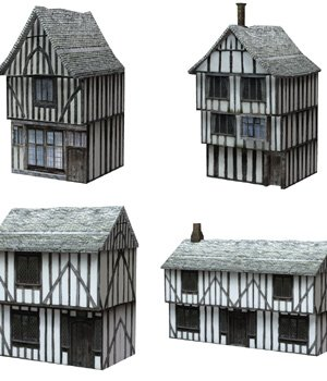Low Polygon Medieval Buildings 1 (for Poser) - Extended License 3D Models Gaming Extended Licenses VanishingPoint