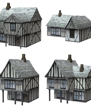 Low Polygon Medieval Buildings 2 (for Poser) - Extended License 3D Models Extended Licenses VanishingPoint