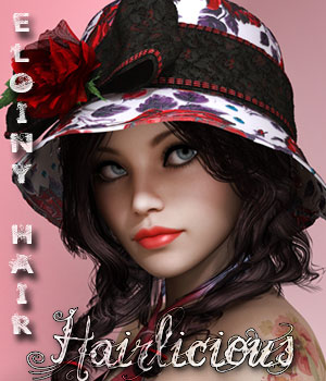 Hairlicious Eloiny Hair  3D Figure Essentials alexaana