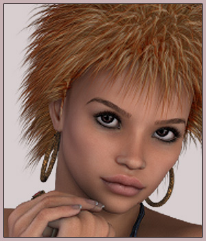 Colorme RockerHair 3D Figure Essentials Zoe