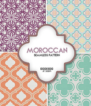 Moroccan :: Seamless Pattern 2D Merchant Resources Cyrax3D