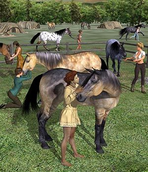 Amazon Equestrians - Grooms 3D Figure Assets Don