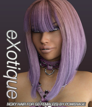 eXotique Noxy Hair for G3 female(s) 3D Figure Assets Anagord