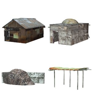 Shanty Town Buildings 1: Set 2 (for Poser) - Extended License 3D Models Gaming Extended Licenses VanishingPoint