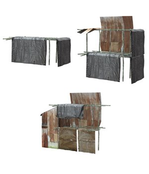 Shanty Town Buildings 1: Set 5 (for Poser) - Extended License 3D Models Gaming Extended Licenses VanishingPoint