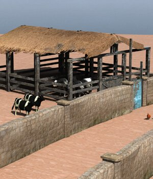 Shanty Town Buildings 2: Farm (for Poser) - Extended License