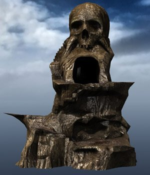 Skull Rock Mountain (for Poser) - Extended License 3D Models Gaming Extended Licenses VanishingPoint