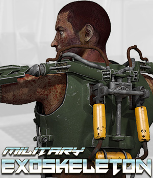 Military Exoskeleton - Extended License 3D Figure Assets 3D Models Extended Licenses Cybertenko
