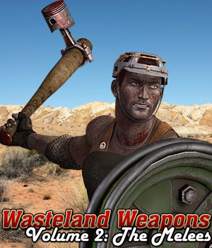 Wasteland Weapons 2: The Melees - Extended License 3D Figure Assets 3D Models Extended Licenses Cybertenko