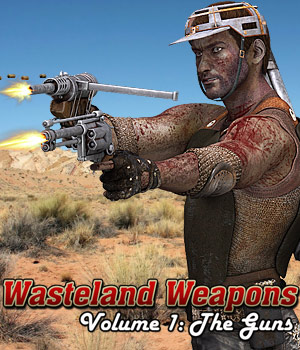 Wasteland Weapons: The Guns - Extended License 3D Models Gaming Extended Licenses Cybertenko