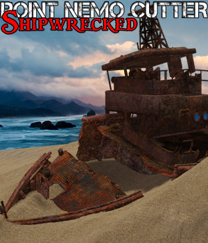 Point Nemo Cutter - Shipwrecked - Extended License 3D Models Gaming Extended Licenses Cybertenko