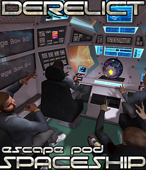 Derelict Spaceship: Escape Pod - Extended License 3D Models Gaming Extended Licenses Cybertenko