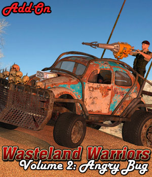 Wasteland Warriors - Angry Bug - ADD-ON - Extended License 3D Models Gaming Extended Licenses Cybertenko