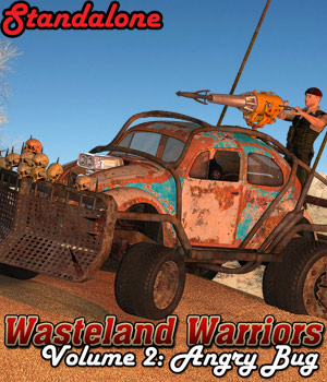 Wasteland Warriors - Angry Bug - STANDALONE - Extended License 3D Models Gaming Extended Licenses Cybertenko