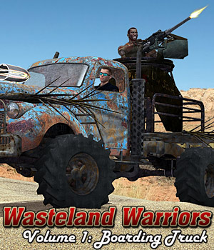 Wasteland Warriors - Boarding Truck - Extended License 3D Models Gaming Extended Licenses Cybertenko