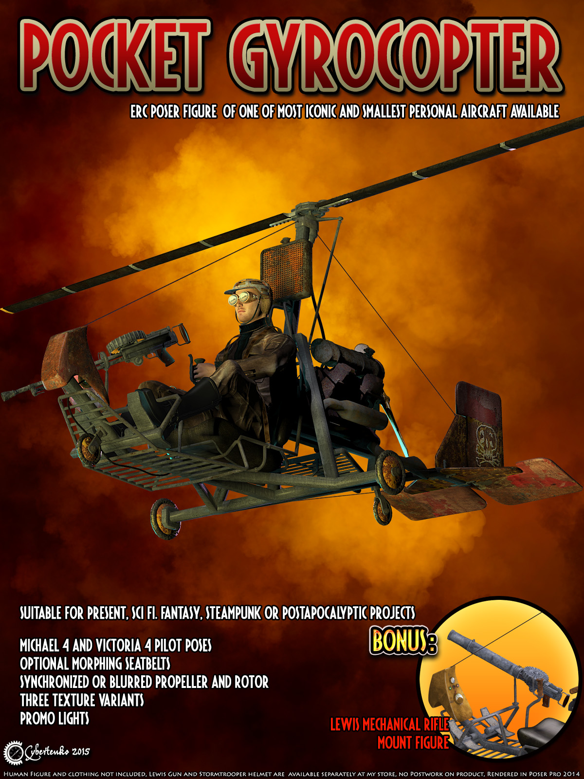 Pocket Gyrocopter - Extended License
