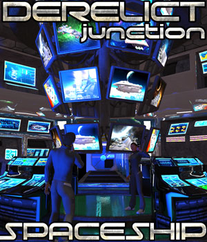 Derelict Spaceship: Junction - Extended License 3D Models Extended Licenses Cybertenko