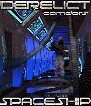 Derelict Spaceship: Corridors - Extended License 3D Models Gaming Extended Licenses Cybertenko
