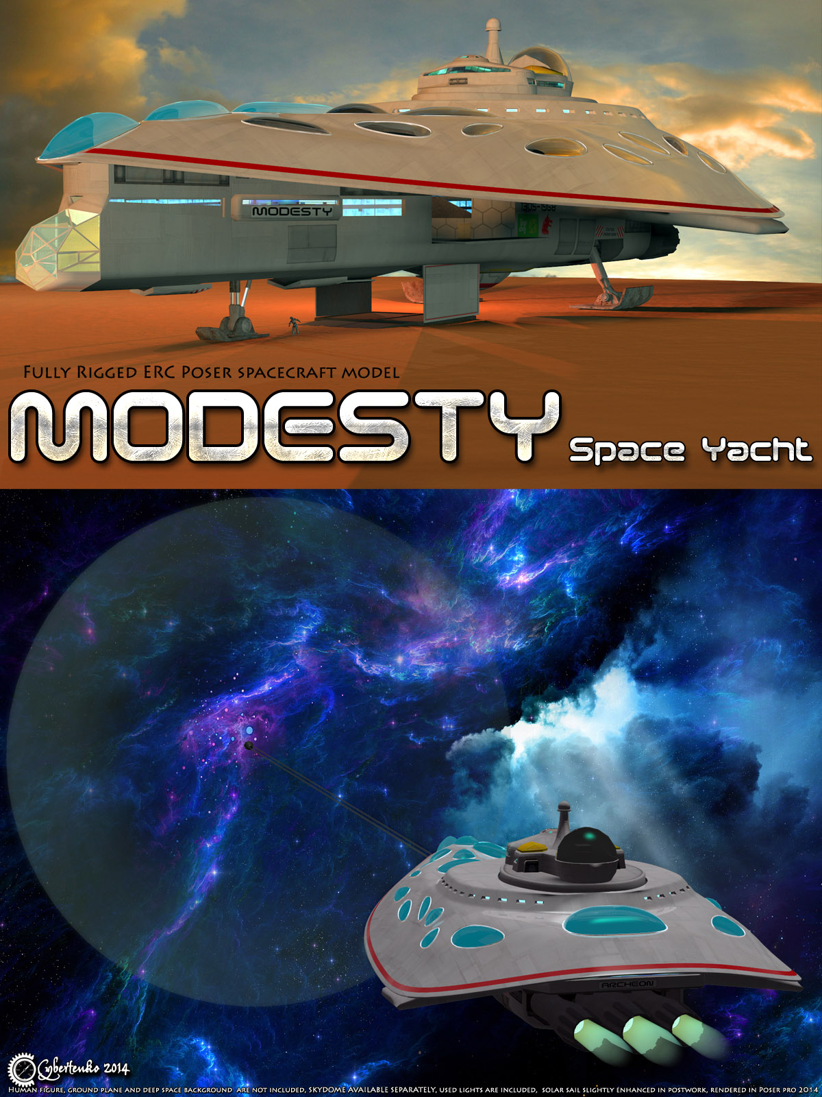 Modesty - Space Yacht - Extended License