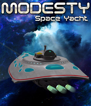 Modesty - Space Yacht - Extended License 3D Models Extended Licenses Cybertenko