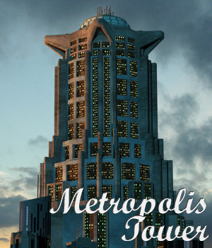 Metropolis Tower - Extended License 3D Models Gaming Extended Licenses Cybertenko