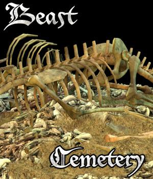 Beast Cemetery - Extended License 3D Models Gaming Extended Licenses Cybertenko