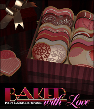 Baked with Love Props DS and Poser 3D Models Sveva