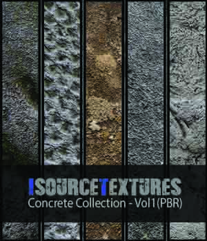 Concrete Collection - Vol1 (PBR Textures) 2D KobaAlexander